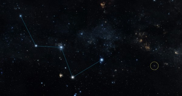 View larger.   You can see the star HD 219134b you can see its star with your own eyes. It's in the Cassiopeia constellation near the North Star. Image via NASA.