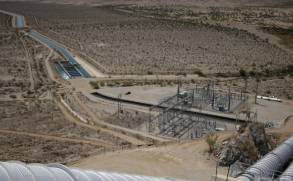 Really dry: a Colorado River aqueduct in southern California. Photo credit: Lucy Nicholson/Reuters