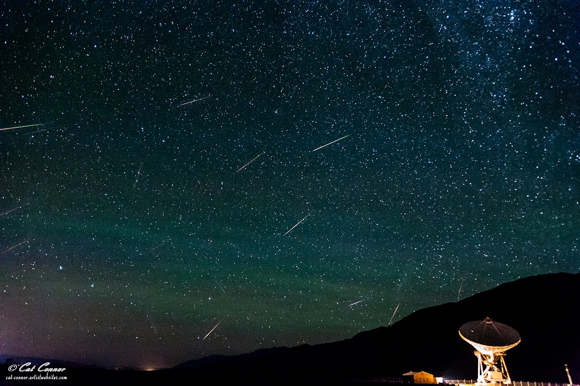 View larger. Perseid meteor shower over