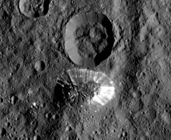 View larger. | Image acquired by the Dawn spacecraft on August 19, 2015.