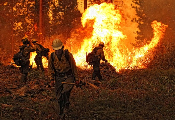Higher temperatures are contributing to an active forest fire season in the West. Photo credit: Mike McMillan - USFS