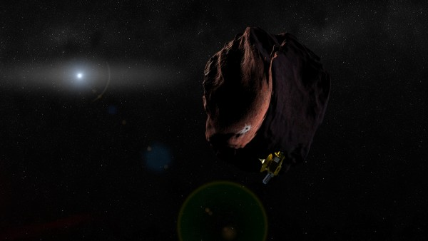 View larger. | Artist's impression of NASA's New Horizons spacecraft encountering a Pluto-like object in the distant Kuiper Belt. (Credit: NASA/Johns Hopkins University Applied Physics Laboratory/Southwest Research Institute/Steve Gribben)