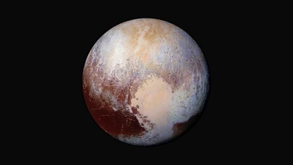 Could Pluto hide liquid water far beneath its surface? Image credit: NASA