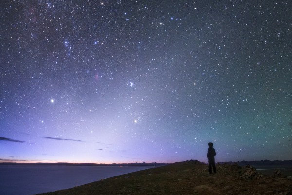 Zodiacal light before dawn Photo by Jeff Dai.