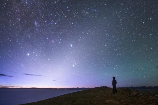 Zodiacal light before dawn Photo by Jeff Dai.