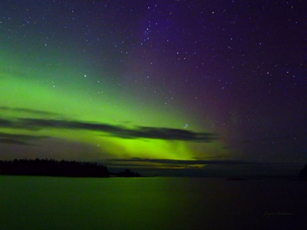 Jörgen Norrland Andersson captured this aurora on September 7 over the Bothnian Sea, Sweden.