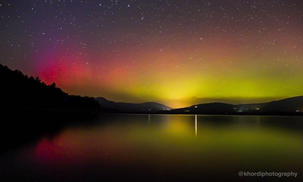 Jennifer Khordi captured this aurora last night (September 7) over the Catskills of New York state.