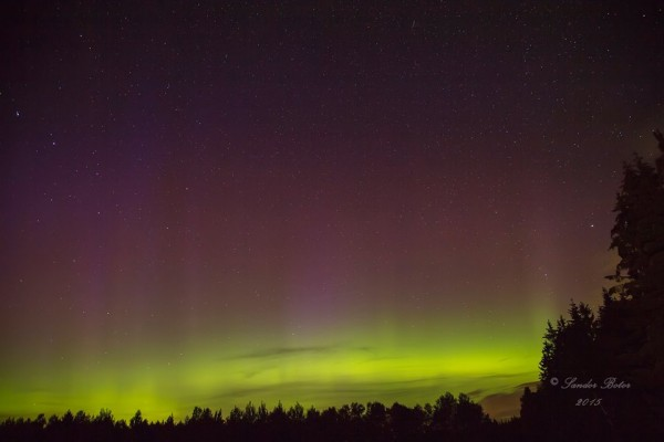 Sandor Botor caught this aurora over Falköping, Sweden on the night of September 7.