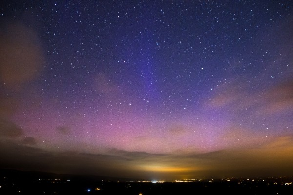 Last night's aurora from Leah Burgess at Knockmealdown Mountains in Ireland.  She wrote,
