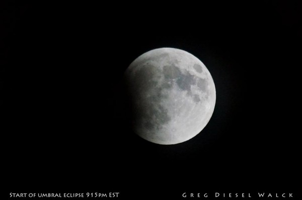 Beginning of the umbral phase of the eclipse, from our friend GregDiesel Landscape Photography.