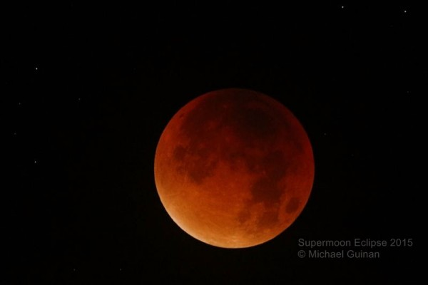 Lunar eclipse on September 27-28, 2015 from Michael Guinan in Ireland.