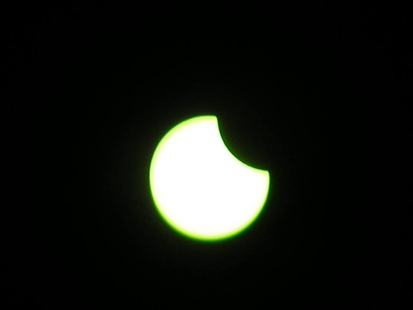 Partial eclipse of the sun by the moon - September 13, 2015 - captured by EarthSky Facebook friend Charl Strydom at Dullstroom, Mpumalanga, South Africa.  Thanks for posting, Charl!