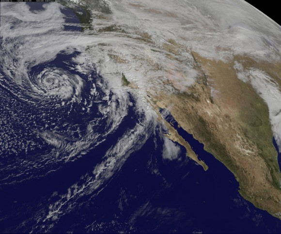 The last El Niño year from 1997-1998 brought heavy storms and mudslides to California. Image credit: NASA Goddard Space Flight Center