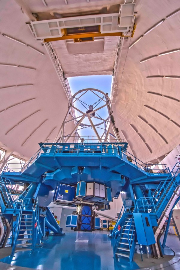 The Gemini Planet Imager instrument on the Gemini South telescope in Chile.