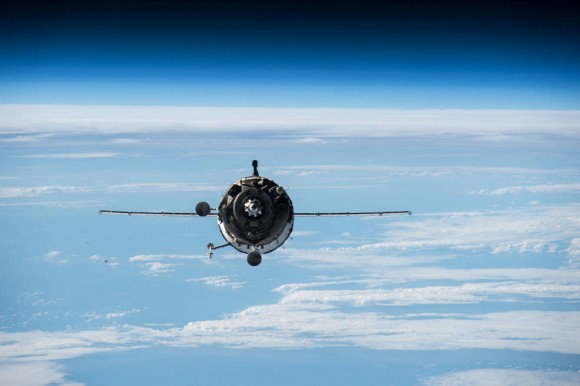 Three International Space Station crew members are set to return aboard the Soyuz TMA-16M spacecraft, which has been docked to the station since March. Image credit: NASA