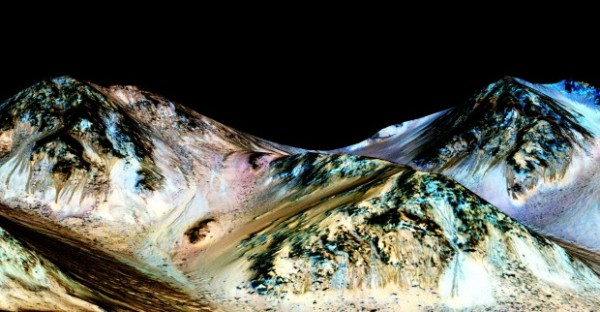 Evidence of flowing water on Mars