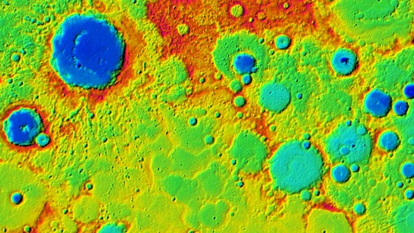 Terrain model of Mercury, via German Aerospace.