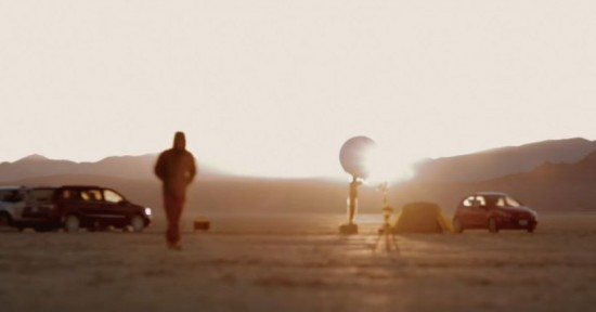 Video still from 'To Scale: The Solar System' by Wylie Overstreet and Alex Gorosh.