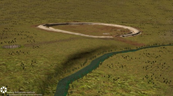 The Stonehenge Hidden Landscapes Project reveals traces of standing stones beneath Durrington Walls super-henge. Image credit: © LBI ArchPro, Juan Torrejón Valdelomar, Joachim Brandtner