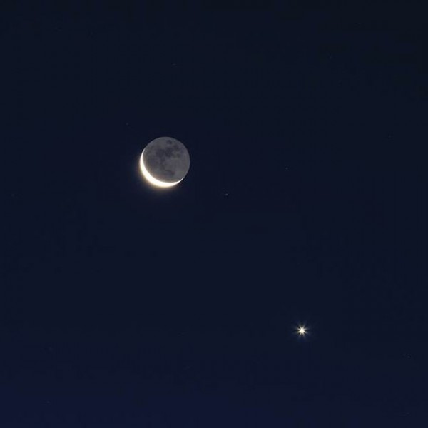 A closer shot of Venus and moon on September 10, 2015 by Brodin Alain in France.