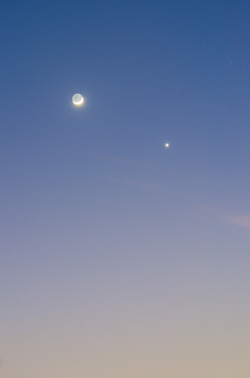 Venus and moon on September 10, 2015 by Martin Marthadinata in Malaysia.