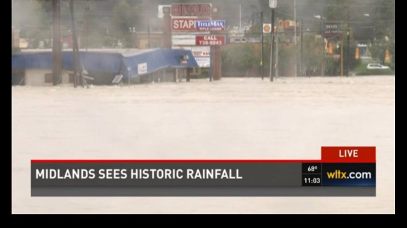 WLTX in Columbia, SC showing nonstop coverage of the devastating floods that hit the midland.