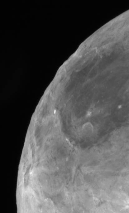 Pluto's moon Charon. Imaged July 14, 2015. Image via NASA / JHU-APL / SWRI. New Horizons spacecraft.