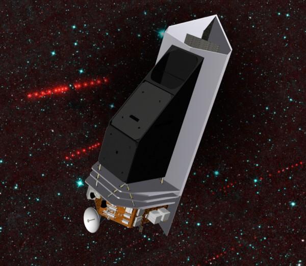 Artist's concept of the NEACam mission, via NASA JPL