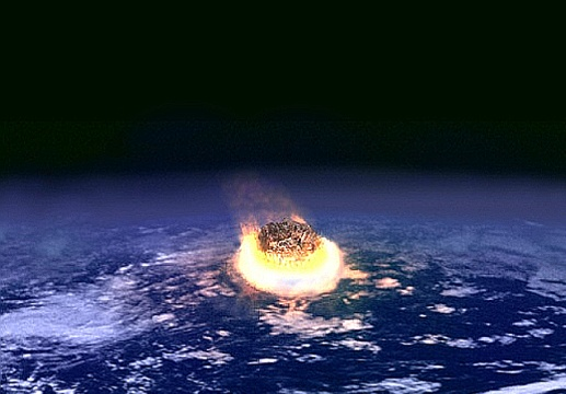 An artist's illustration of a major asteroid impact on Earth. Imge credit: NASA