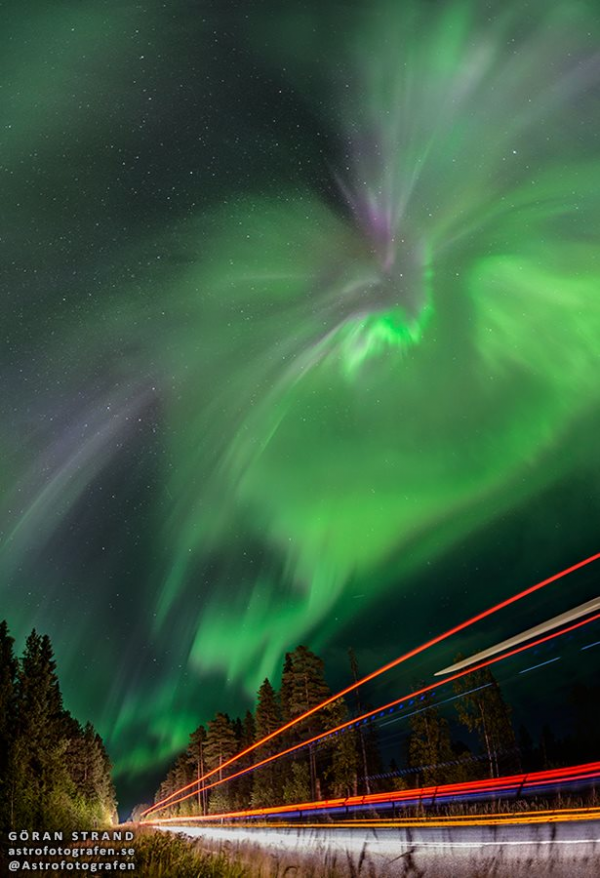Fotograf Göran Strand posted this photo to EarthSky Facebook this week.  He wrote: