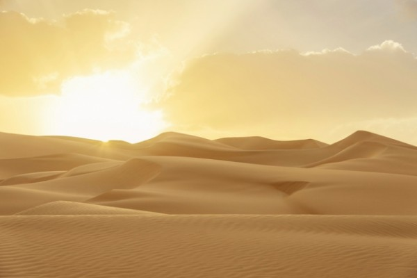 Rub' al Khali desert in the Arabian Peninsula