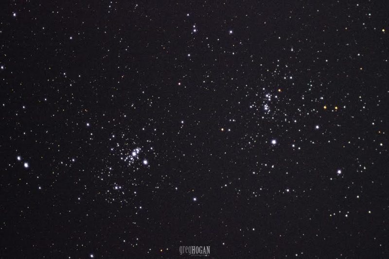 Double cluster in Perseus. Photo via Greg Hogan in Kathleen, Georgia.  Photo taken in 2015.
