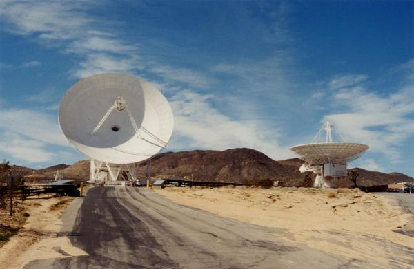 Goldstone - near Barstow, California - is the largest tracking station in NASA's Deep Space Network, which is composed of three installations located at roughly 120-degree intervals around the globe (with one at Madrid, Spain, and another at Canberra, Australia) for a continuous view of space.