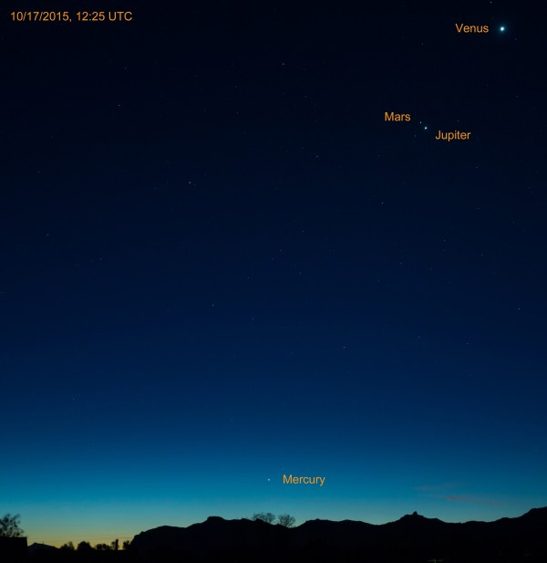 Jack Webb in Wapiti, Wyoming caught the planets Saturday morning, too.