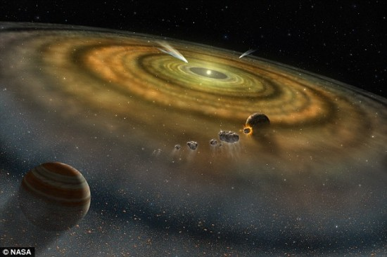 Artist's concept of a planet-forming disk around a young star, via NASA.