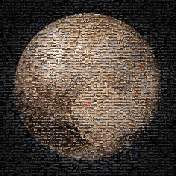 A photo of Pluto discoverer Clyde Tombaugh is embedded in this mosaic of hundreds of images shared during the #PlutoTime campaign. View larger. | Image credit: NASA/JPL