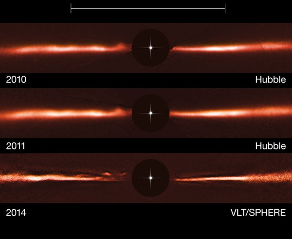 Mysterious ripples race across planet-forming disk