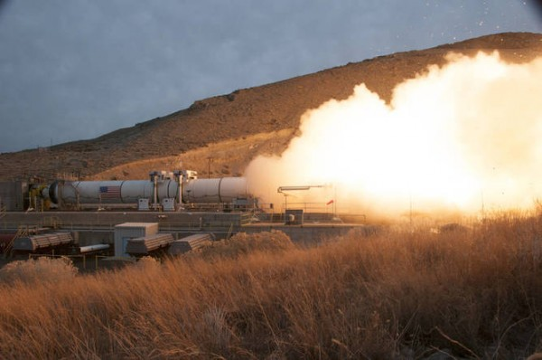 It's going to take the largest, most powerful rocket booster ever built to make it all the way to Mars. Tests are already under way. Photo credit:Orbital ATK