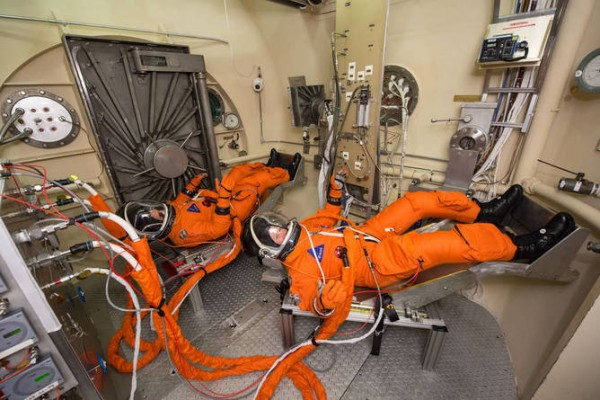 Engineers and technicians are already testing the spacesuit astronauts will wear in the Orion spacecraft on trips to deep space, including Mars. Photo credit: NASA/Bill Stafford