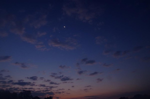 Moon and Venus on October 8 by Jerry Meyers.