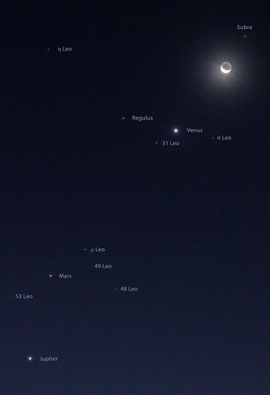 Moon, Venus and more on October 8 by Alan Studt in Ohio.