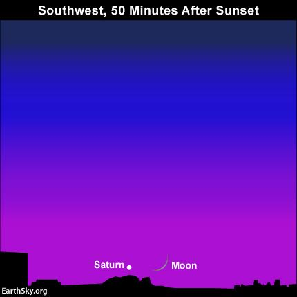 Try for the moon and saturn after sunset november 12 read more