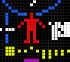 Part of the Arecibo radio message beamed to space on November 16, 1974.