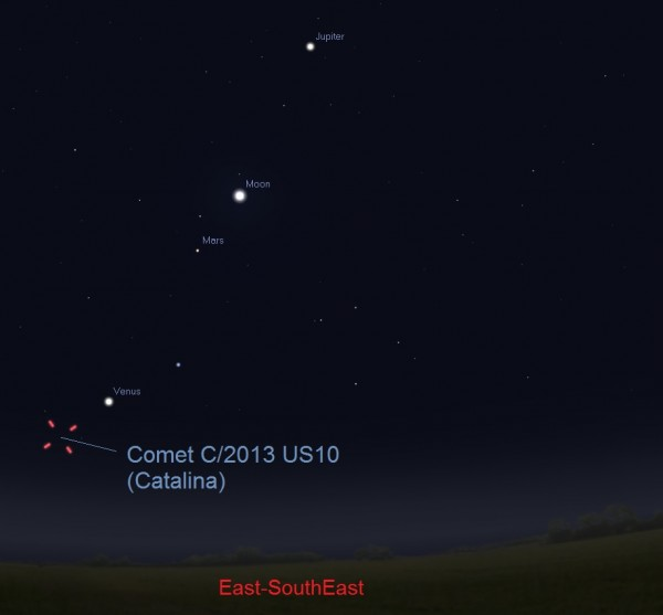 Try for Comet Catalina this weekend CatalinaDec52015ESE30to45MinutesBeforeSunrise-e1449256743157