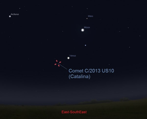 Try for Comet Catalina this weekend CatalinaDec62015ESE30to45MinutesBeforeSunrise-e1449256770851