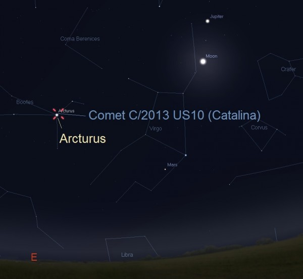 January 1, 2016, from 2 a.m. to sunrise, local time. The comet will be very near the bright star Arcturus in the constellation Bootes.  Photo opportunity!