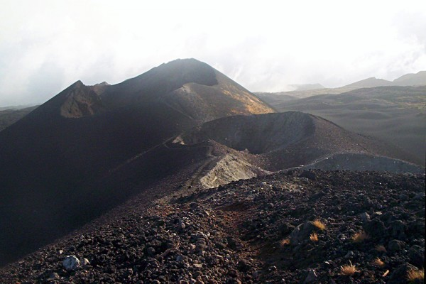 Mount Cameroon. Craters left after the eruptions in 2000. Image credit: Wikimedia commons