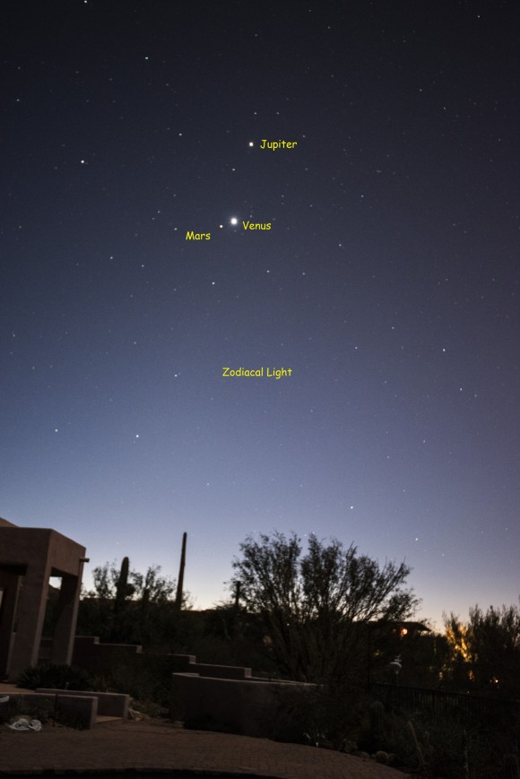 Planets on November 1 by Eliot Herman in Tucson, Arizona.