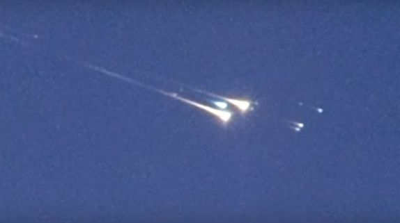 Video still via of reentry of object WT1190F, via the International Astronomical Center (IAC) and the United Arab Emirates Space Agency.