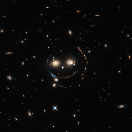 Cheshire Cat galaxy group in optical light via Hubble Space Telescope.